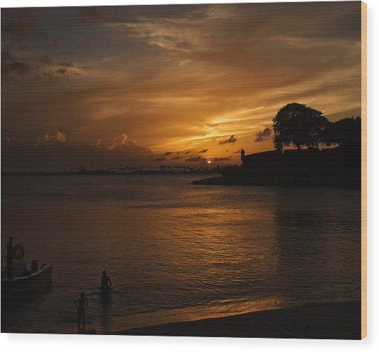 San Juan Wood Print