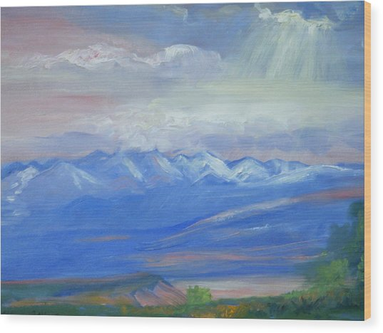San Juan Mountains Colorado Wood Print by Patricia Kimsey Bollinger