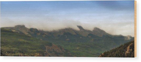 San Juan Mountian Range Wood Print