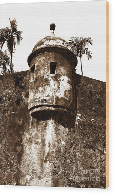 San Juan Tower Wood Print by John Rizzuto