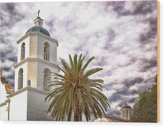 San Luis Rey Mission Wood Print