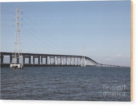 San Mateo Bridge In The California Bay Area 5d21889 Wood Print by Wingsdomain Art and Photography