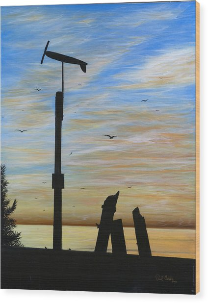San Onofre Sunrise Wood Print