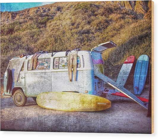 The Surfing Life Wood Print