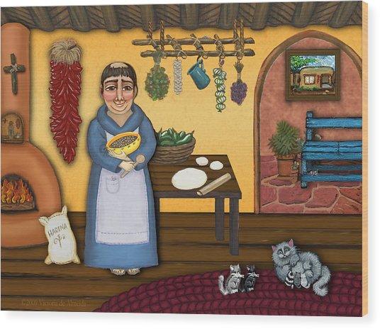 San Pascuals Kitchen 2 Wood Print