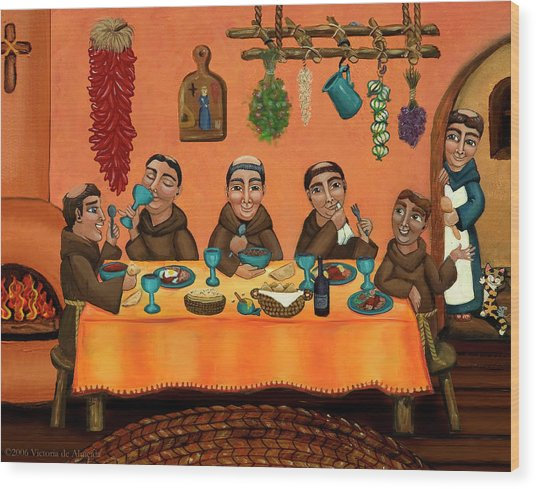 San Pascuals Table Wood Print