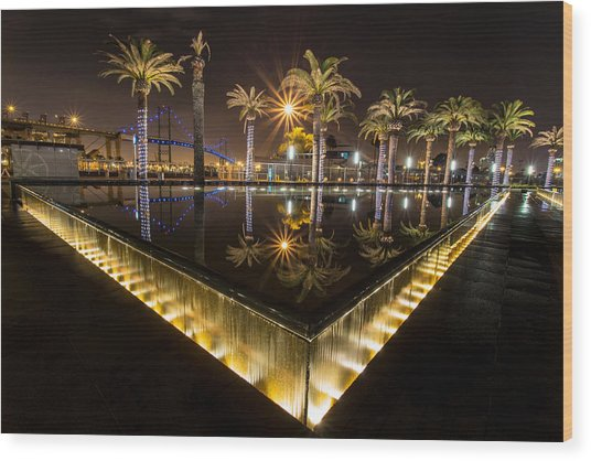 San Pedro Fountains Wood Print