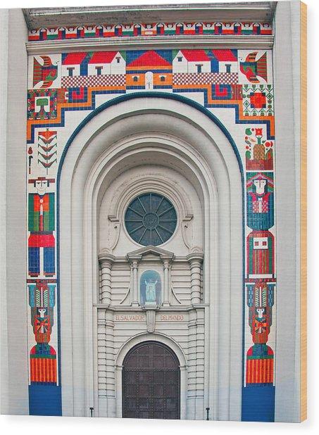 San Salvador Mural Wood Print
