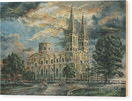 San Sebastian Church 1800s Wood Print