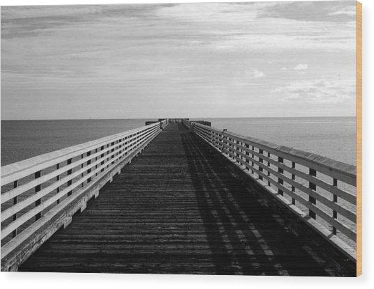 San Simeon Pier Wood Print