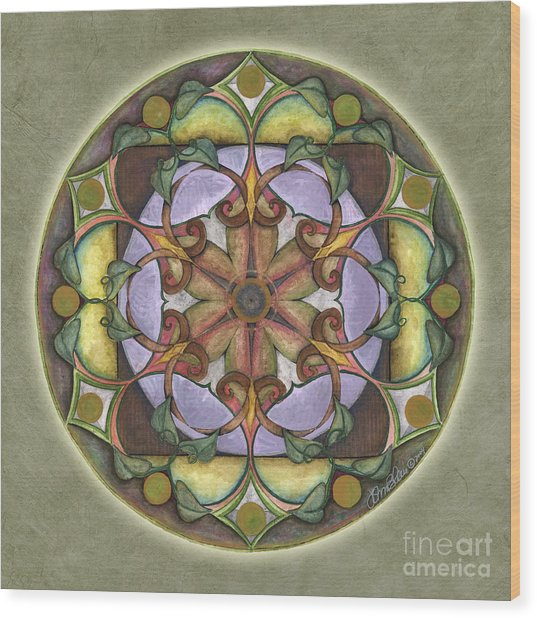 Sanctuary Mandala Wood Print