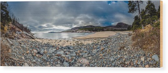Sand Beach At Acadia Wood Print