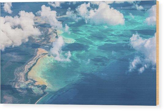 Sand Beach Meets Ocean Wood Print by David D