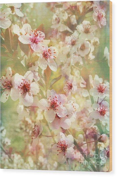 Sand Cherry Flourish Wood Print