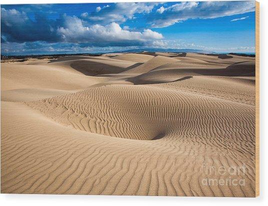 Sand Dune Vortex Wood Print