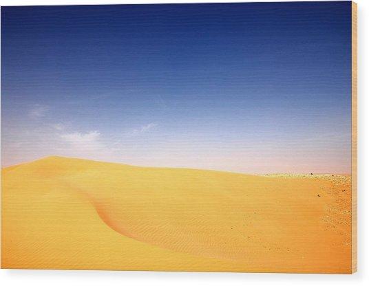 Sand Dunes Wood Print by Manu G