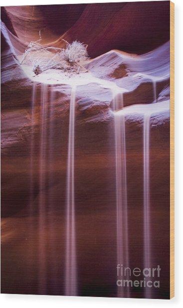 Sand Flow Wood Print