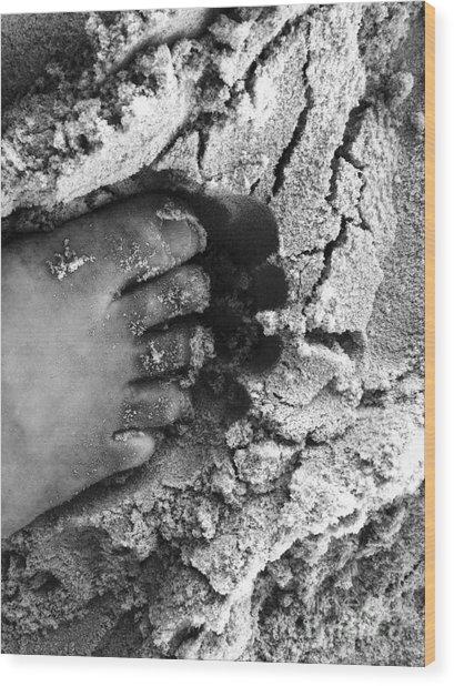 Sand Foot Wood Print
