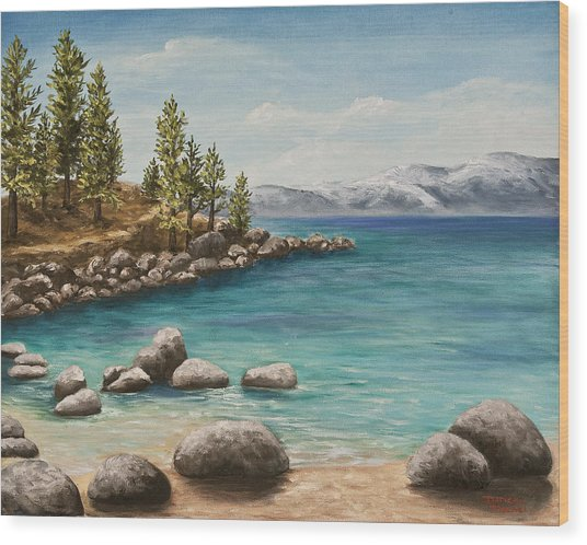 Sand Harbor Lake Tahoe Wood Print