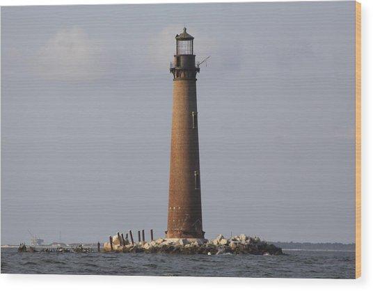 Sand Island Lighthouse - Once 40 Acres Wood Print