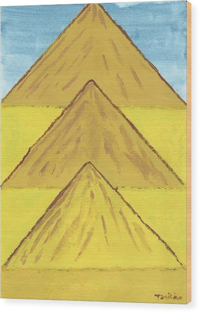 Sand Mountains Wood Print