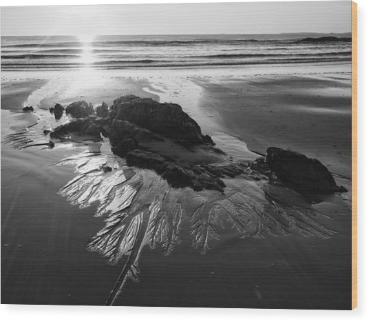 Sand Traces Wood Print