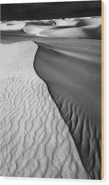 Sand Waves Wood Print by Lydia Jacobs