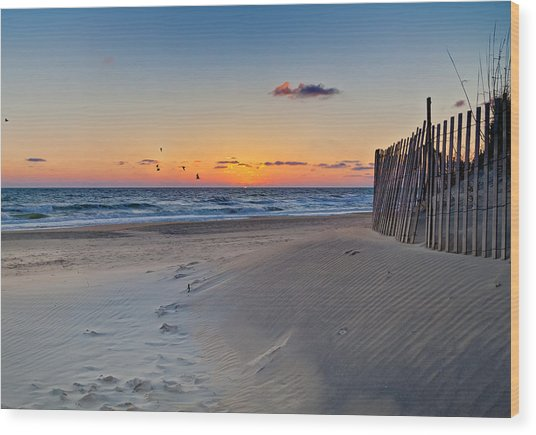 Sandbridge Dawn Wood Print