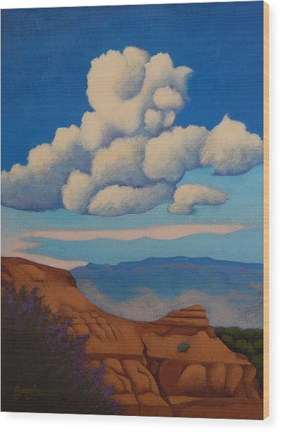 Sandia Clouds Wood Print