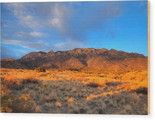 Sandia Crest Sunset Wood Print