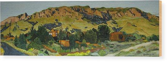 Sandia Heights Wood Print