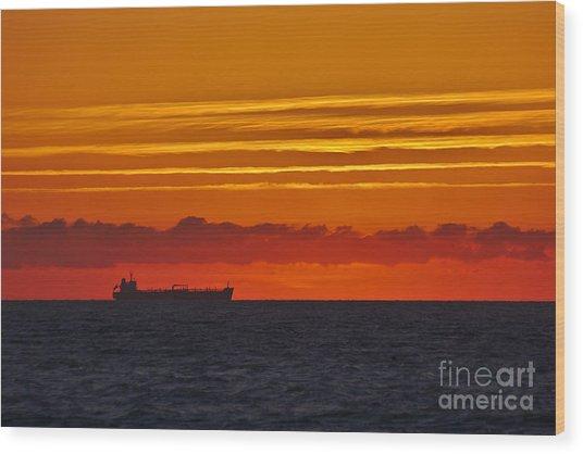Sandown Sunrise Wood Print