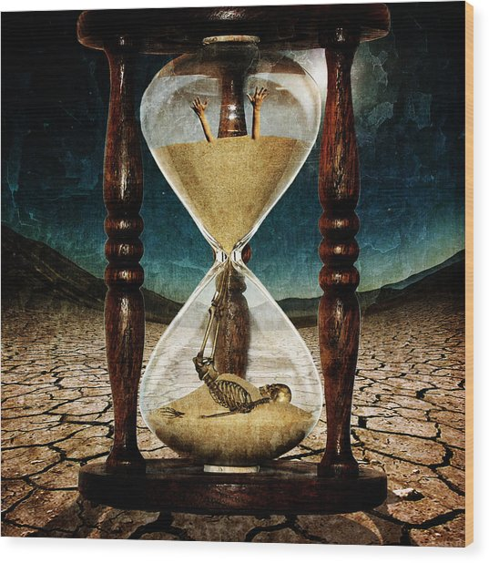 Sands Of Time ... Memento Mori  Wood Print