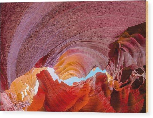 Sandstone Chasm Wood Print