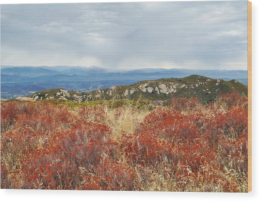 Sandstone Peak Fall Landscape Wood Print