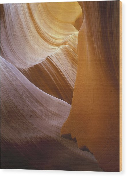 Sandstone Vortex Wood Print