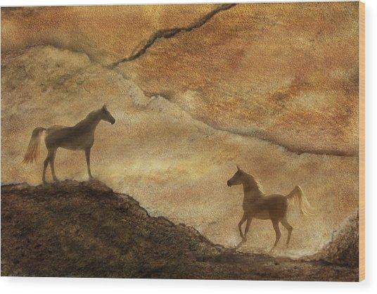 Sandstorm Wood Print