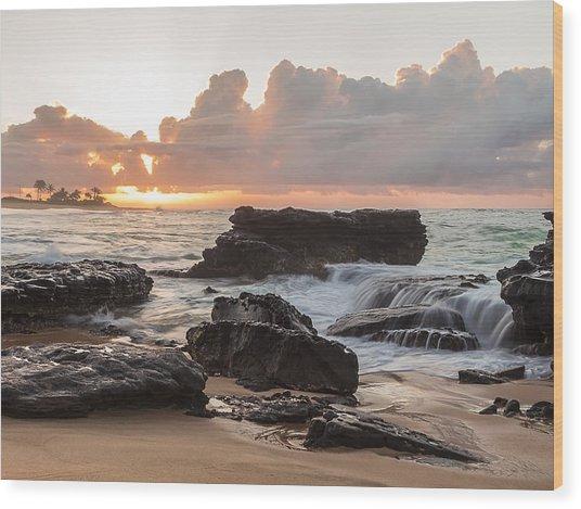 Sandy Beach Sunrise 6 Wood Print