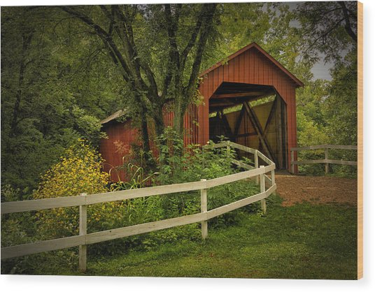 Sandy Creek Bridge Near Hillsboro Mo Dsc06888 Wood Print