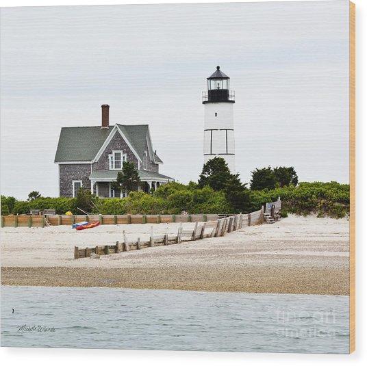 Sandy Neck Lighthouse Cape Cod Wood Print