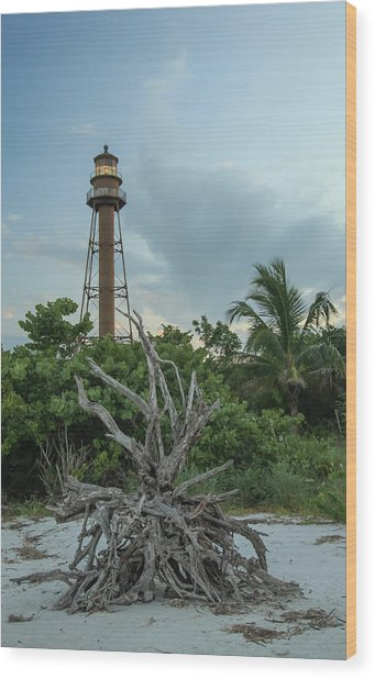 Sanibel Light Wood Print by Doug McPherson