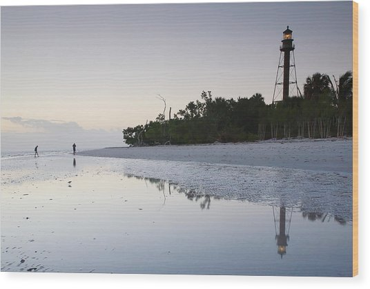 Sanibel Lighthouse II Wood Print