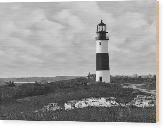 Sankaty Head Lighthouse Nantucket Cape Cod Wood Print
