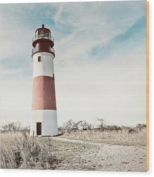 Sankaty Head Lighthouse Nantucket  Wood Print
