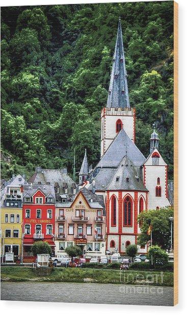 Sankt Goar On The Rhine Wood Print