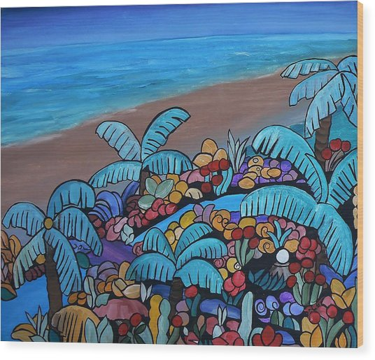 Santa Barbara Beach Wood Print