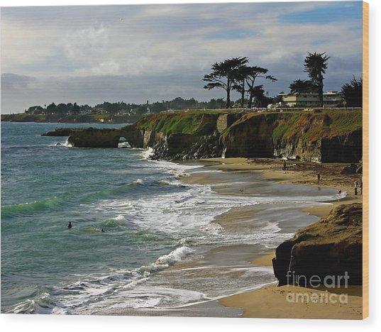 Santa Cruz Beach Wood Print