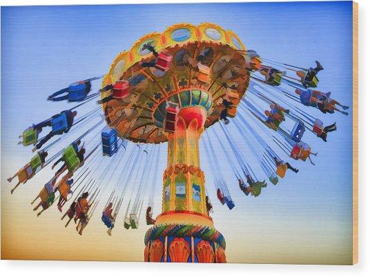 Santa Cruz Seaswing At Sunset 6 Painterly Wood Print