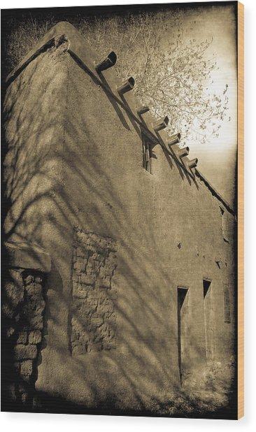 Santa Fe Adobe Wood Print
