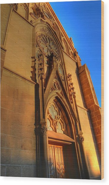 Santa Fe Church Wood Print